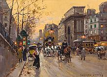 Edouard Leon Cortes, (French, 1882-1969), Porte St. Martin