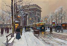 * Edouard Leon Cortes, (French, 1882-1969), L'Arc de Triomphe