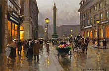 * Edouard Leon Cortes, (French, 1882-1969), Place de Vendome