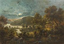 Otto Sommer, (American, 1811-1911), Moonlit Landscape