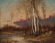 * John Francis Murphy, (American, 1853-1921), Moonlit Landscape