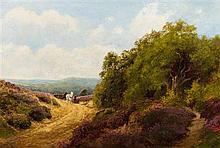 John Clayton Adams, (American, 1840-1906), Landscape with Horses