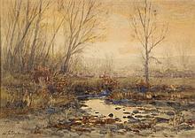Charles Partridge Adams, (American, 1858-1942), River Landscape