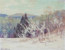 Frank Virgil Dudley, (American, 1868-1957), Spring Landscape