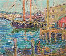 Kathryn E. Bard Cherry, (American, 1880-1931), Gloucester Harbor