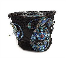A Chinese Lady's Enamel Mounted Court Hat 19TH CENTURY, QING DYNASTY Height 7 x width 9 inches.