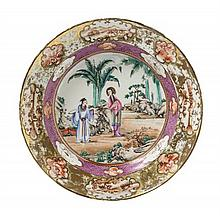 A Chinese Export Famille Rose Porcelain Plate 18TH CENTURY Diameter 9 5/8 inches.
