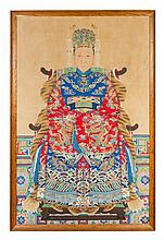 A Chinese Ancestral Portrait 18TH/19TH CENTURY 58 1/2 x 37 1/2 inches.