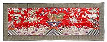 A Chinese Embroidered Silk Panel EARLY 20TH CENTURY 27 1/2 x 71 1/2 inches.