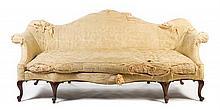 * A George II Walnut Camelback Sofa Width 86 inches.