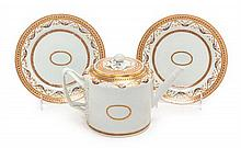 * Three Chinese Export Porcelain Articles Height of teapot 6 inches.