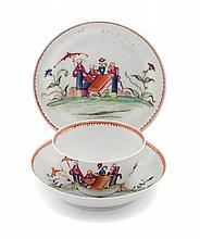 * A Pair of Chinese Export Porcelain Saucer Dishes Diameter 5 1/8 inches.