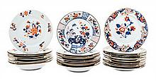 * A Collection of Chinese Export Porcelain Plates Average diameter 9 1/8 inches.
