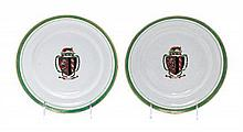* A Pair of Chinese Export Porcelain Plates Diameter 9 1/8 inches.