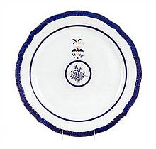 A Chinese Export Porcelain Charger Diameter 14 1/2 inches.