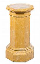 * A Continental Breche Marble Pedestal Height 32 3/4 inches.