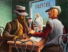 * Thomas Hart Benton, (American, 1889-1975), Discussion, 1967