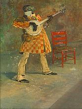 * Everett Shinn, (American, 1876-1953), Colored Banjo Player, 1940