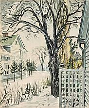 * Charles Burchfield, (American, 1893-1967), Basswood Tree in Winter, 1948