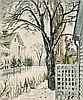 * Charles Burchfield, (American, 1893-1967), Basswood Tree in Winter, 1948, Charles Ephraim Burchfield, $0