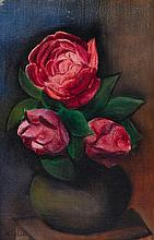 * Moïse Kisling, (Polish, 1891-1953), Still Life with Roses in a Vase