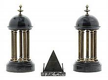 Three Grand Tour Architectural Models Height 12 3/4 inches.