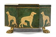 An English Gilt Metal Mounted Table Casket Height 4 inches.