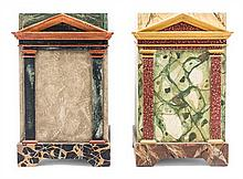 Two Neoclassical Style Waste Paper Baskets Height 14 3/4 inches.
