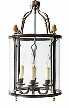 A French Neoclassical Gilt Metal Lantern Height 21 inches.