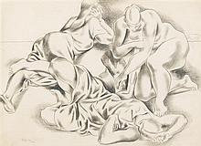 Jan Matulka, (Czech/American, 1890-1972), Three Reclining Figures