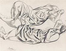 Jan Matulka, (Czech/American, 1890-1972), Composition of Two Reclining Models