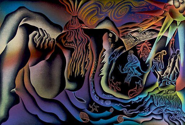 Judy Chicago, (American, b. 1939), Three prints; Birth Trinity, Earth Birth and The Creation