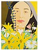 Alex Katz, (American, b. 1927), Ada With Flowers, 1980, Alex Katz, $0