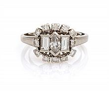 A Platinum and Diamond Ring, 4.30 dwts.