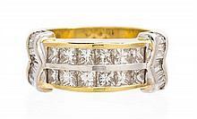 An 18 Karat Yellow Gold and Diamond Ring, JB Star, 7.90 dwts.