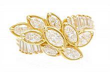 * An 18 Karat Yellow Gold and Diamond Ring, Albithel, 4.20 dwts.