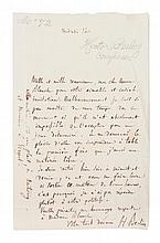 BERLIOZ, HECTOR. Autographed letter signed, one page, s.l., n.d. To