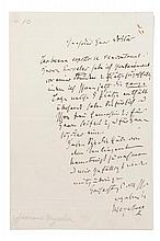 MEYERBEER, GIACOMO. Two autographed letters signed, one page each, s.l., n.d.