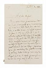 PAGANINI, NICCOLO. Autographed letter signed, one and a half pages, May 6, 1846. In French. To Jean-Baptiste Vuillaume.
