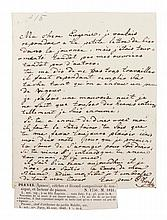 PLEYEL, IGNACE. Autographed letter signed, one page, September 25, 1849.