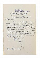 DICKENS, CHARLES. Autographed letter signed (