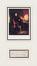 * DICKENS, CHARLES. Clipped signature, n.d. Framed and matted.