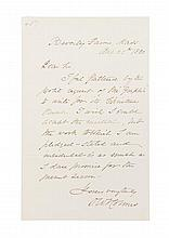 HOLMES, OLIVER WENDELL. Autographed letter signed, one page, August 25, 1880.