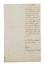 * LOUIS XVIII. Two autographed documents signed by Louis Joseph de Bourbon, 1811, and King Louis XVIII, 1722.