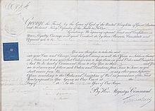 * GEORGE III. Two commission documents signed (