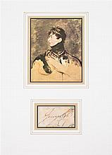 * (BRITISH ROYALTY) 11 clipped signatures and signed photographs: Victoria, George III, IV, William IV, Charlotte and Duke of Wellingto