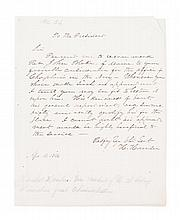 HAMLIN, HANNIBAL. Autograph letter signed, one page, April 14, 1846. Endorsement, as House member.