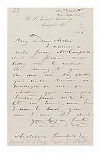 PORTER, DAVID DIXON. Autographed letter signed, one page, 1866.