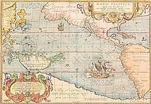 (MAP) ORTELIUS, ABRAHAM. Maris Pacifici. [Antwerp], 1589. First edition, first state. Rare map, the first to focus on the Pacific.