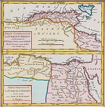 * (MAP, MIDDLE EAST) Two maps. Persia. Edinburgh, 1819. Partie Occidentale de la Turquie... Paris, 1758. Both framed.